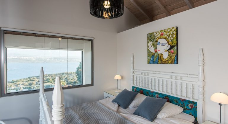 Bedroom with beautiful sea views