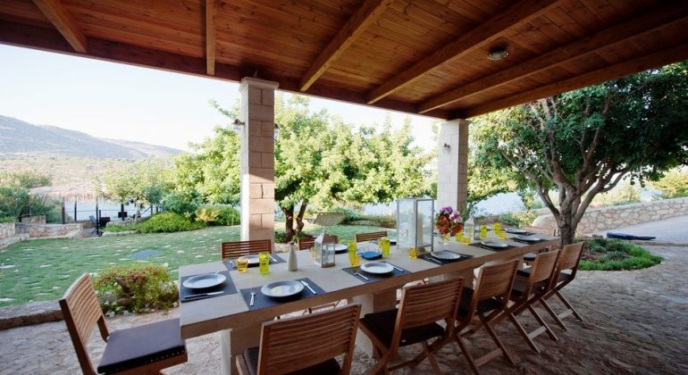 Dining area for al fresco meals