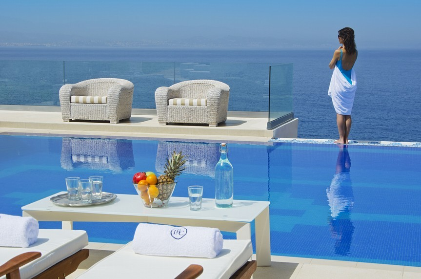 It is nearly impossible for guests to stop overlooking the view from the villa..