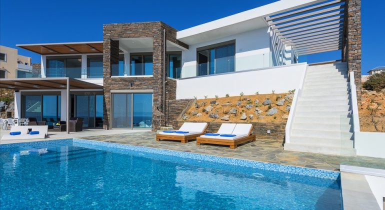 Modern architecture luxurious villa