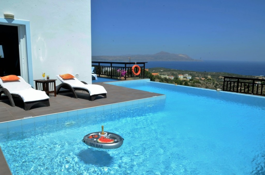Pool area and sea views