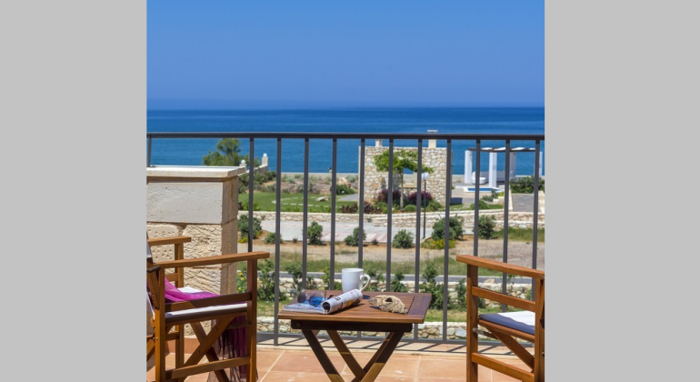 Private balcony with seaviews
