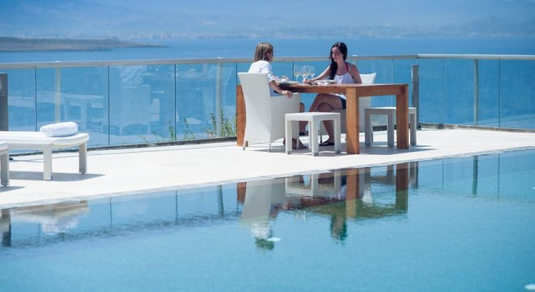Relax by the pool enjoying the magnificent views