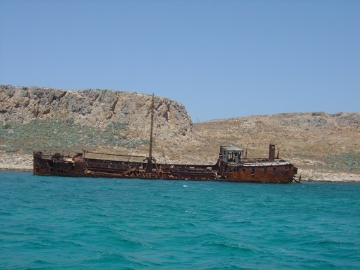 Shipwreck in Gramvousa