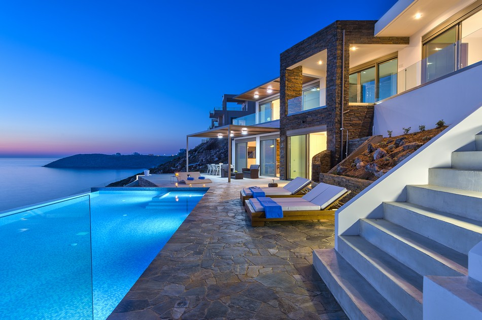 Costa Mare Seafront Villa Authentic Crete Villas In