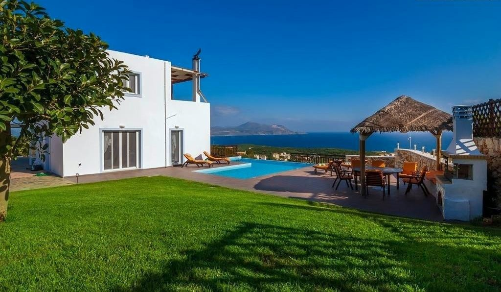 Villa aikaterini authentic crete villas in crete for Gardens and villa