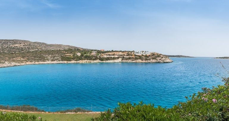 Panoramic view of Loutraki bay