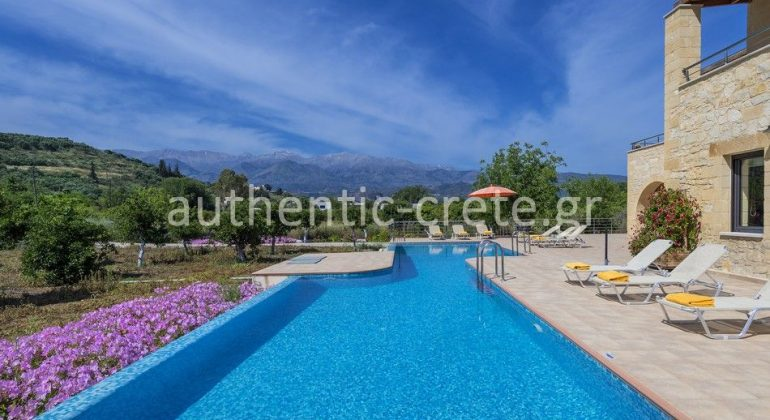 Views to the White mountains and the fertile plateau of Armeni from the pool area