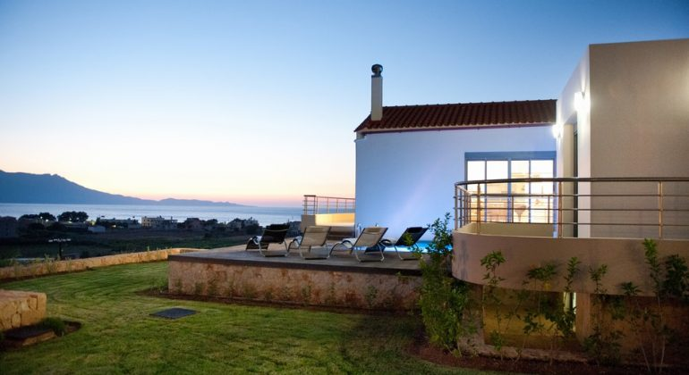 Villa and views