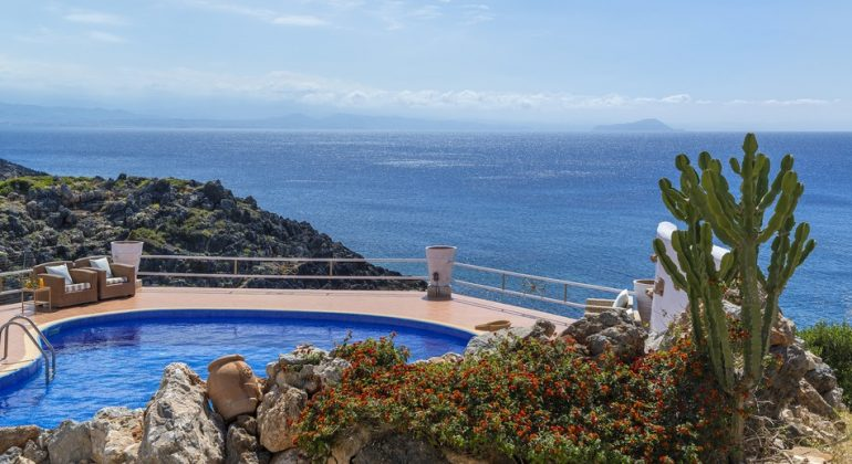 Breathtaking views from the pool terrace