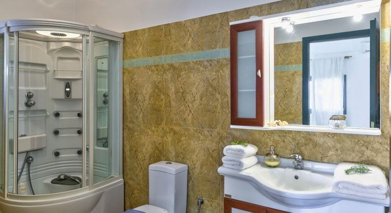 Shower room with Jacuzzi shower cabin