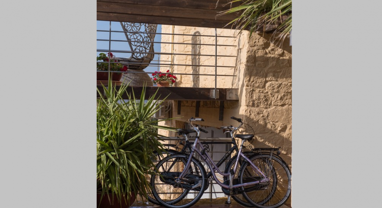 Explore the area using the two bicycles offered free of charge