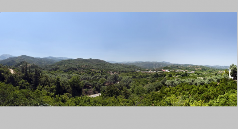 Views to the Cretan countryside