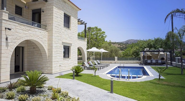 Villa and landscaped gardens