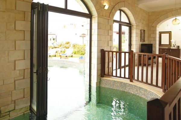 Half indoor pool