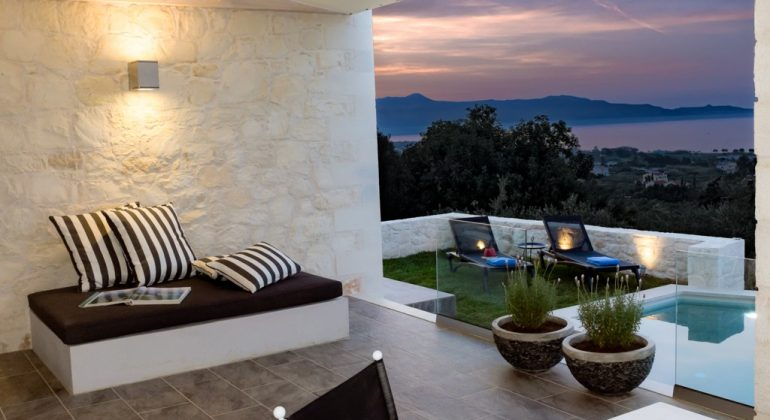 Pool terrace and views