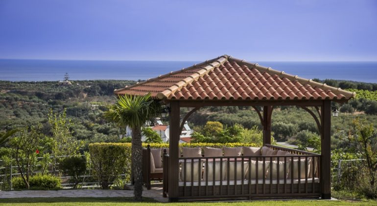 Relax under the gazebo and enjoy the views