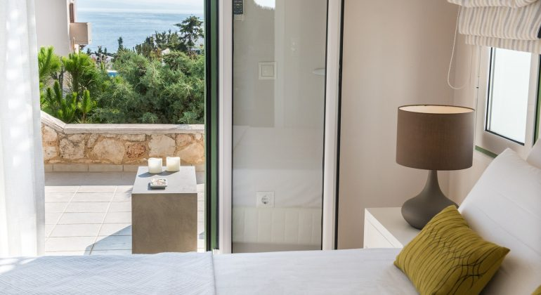 Views to the sea from main floor bedroom