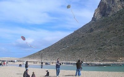 Kite flying at Stavros Beach