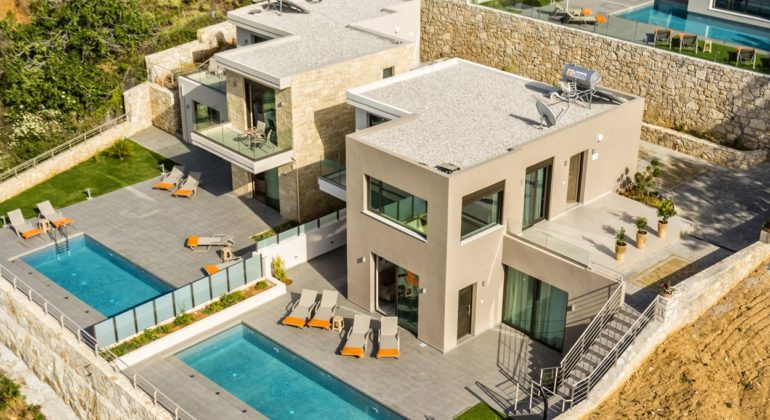 Two of the villas