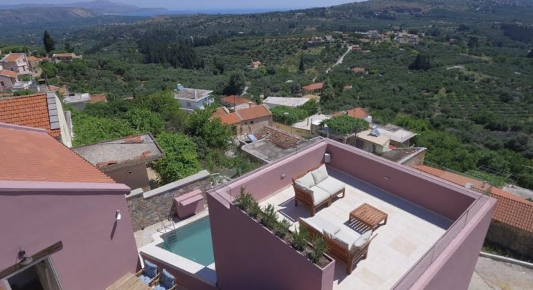 Villa and views to the verdant hills