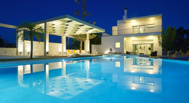 Large pool and villa